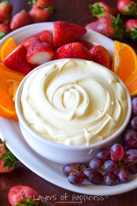 the best fruit dip ever layers of happiness