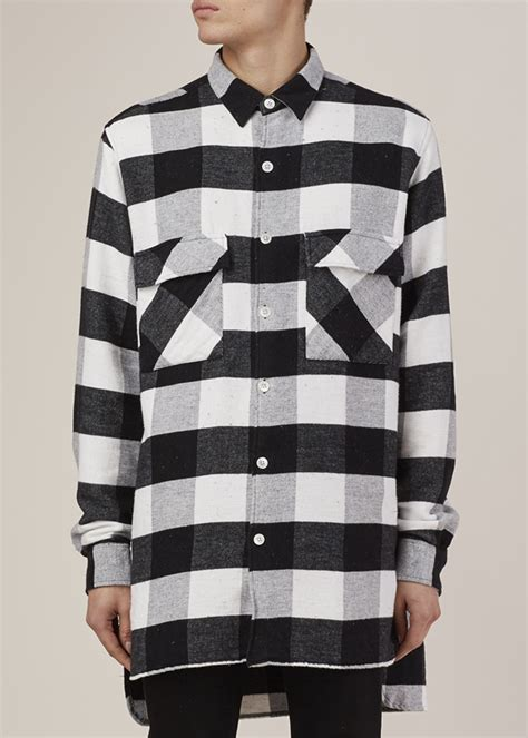 Promo Fashion White Flanel our legacy black white flannel plaid 2 pocket shirt coat in black for lyst