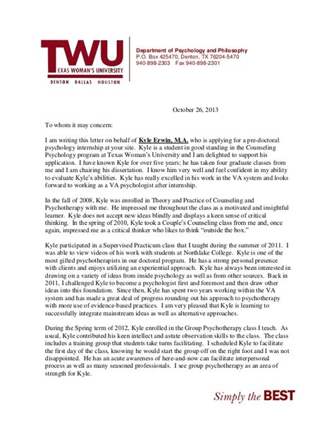 Lim College Letter Of Recommendation Erwin Kyle Letter 2013 By Harris