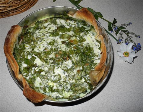 recipe of the month may 2014 pie with spinach and