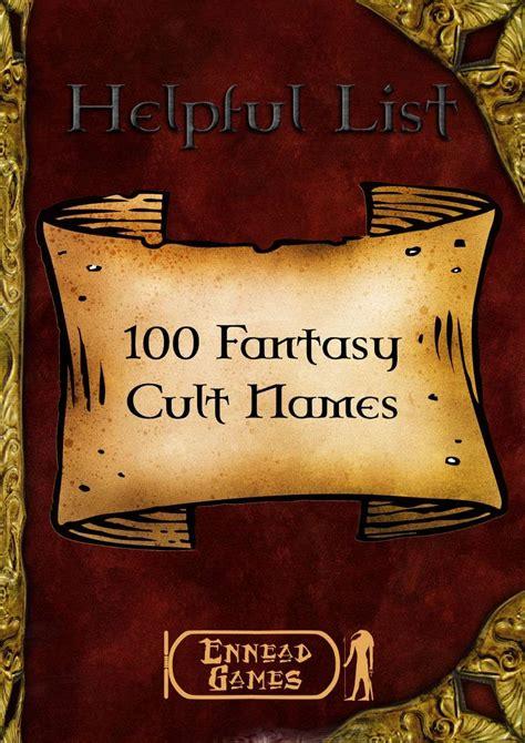 fantasy cult names ennead games helpful list