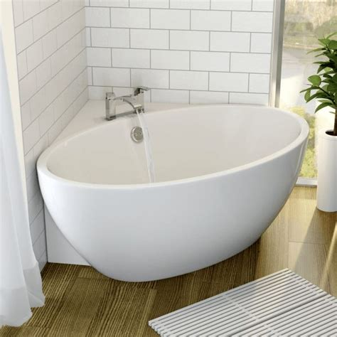 Tiny Bathtubs by Affine Fontaine Corner Freestanding Bath 1510mm X 935mm