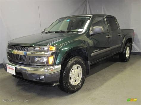 chevy colorado green 2004 green metallic chevrolet colorado z71 crew cab
