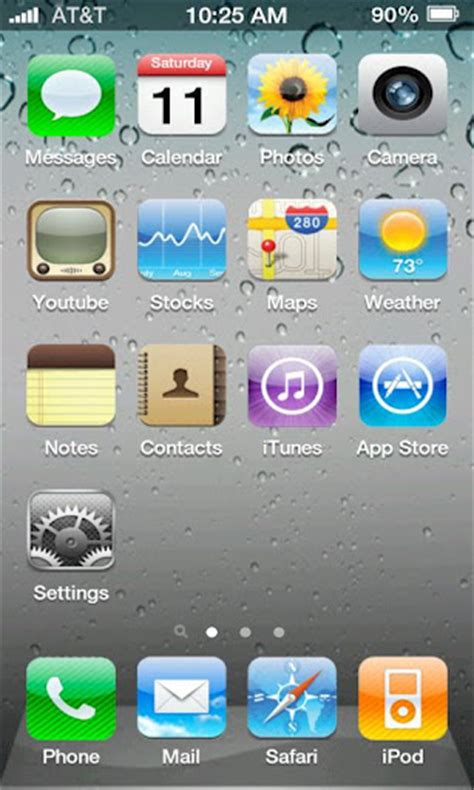 iphone themes for android iphone 4s screen 3 5 0 theme for android android themes free android themes free android themes