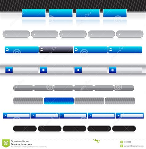 Blank Website Menu Bars Stock Vector Illustration Of Elements 30659883 Navigation Bar Templates