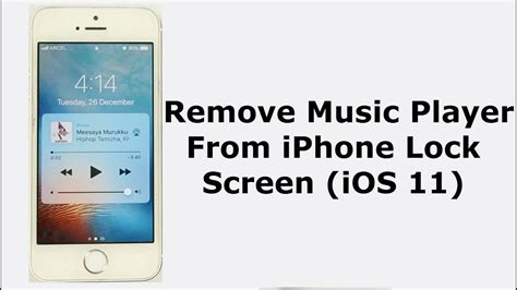 how to get pattern lock screen on iphone how to remove music player from the lock screen on iphone