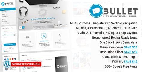 wordpress themes free vertical navigation bullet multipurpose vertical menu wp theme traclaborat