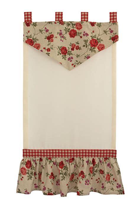 tende per finestra cucina tendina country per finestra con tessuto a fiorellini