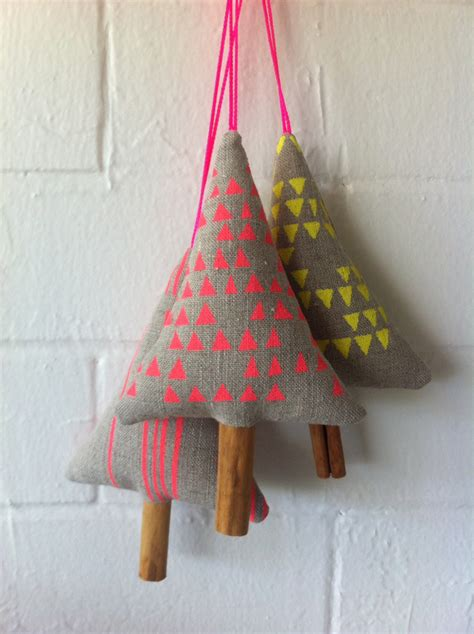 neon linen christmas ornament decoration by splendidloveshop