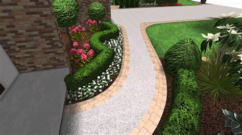 front yard pavers landscape design 3d walkthrough front yard landscaping