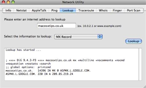 Utility Search By Address How To Use Network Utility System Preferences Terminal