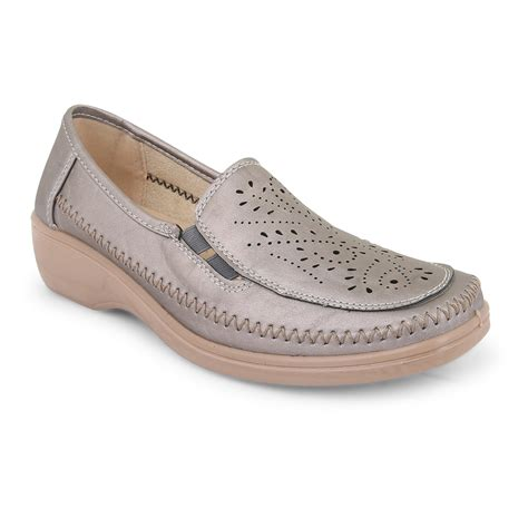 womens casual office work wedge heel loafer pumps