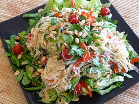 rice noodle salad thai rice noodle salad recipe