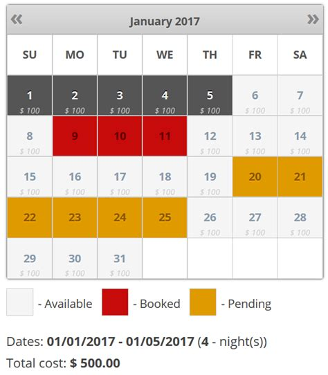 booking calendar wordpress plugin for online bookings