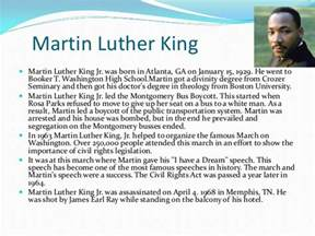 Martin Luther King Jr Biography Essay by Martin Luther King Jr Biography Essay