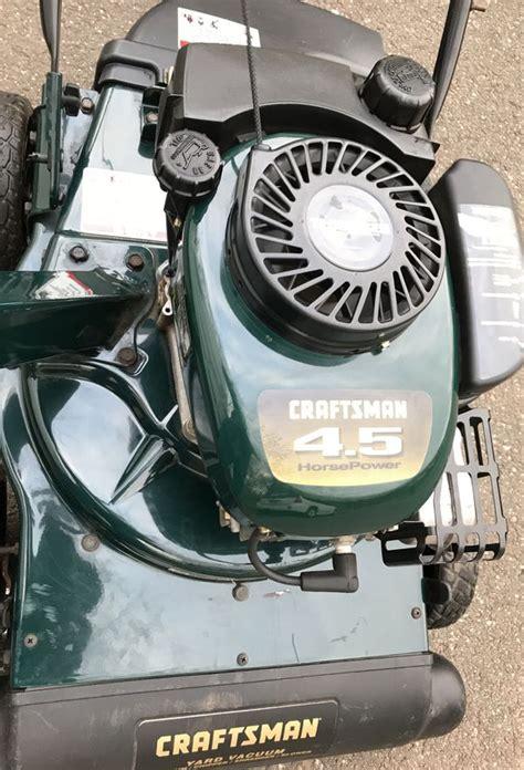 craftsman  hp tecumseh engine leaf vacuum