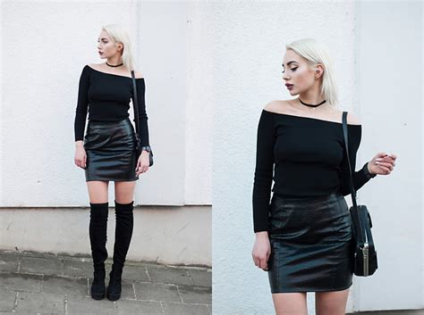 2016 winter carnival s shoes connection monika black monika s the shoulder top snake print skirt biker