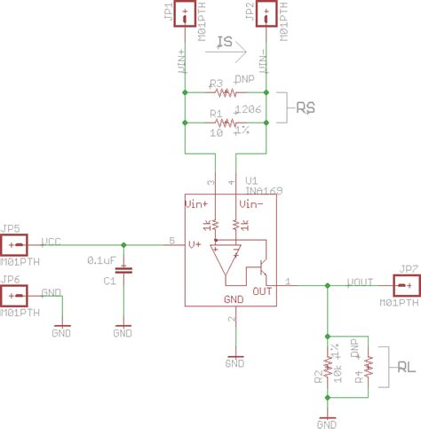 sensing resistor schematic ina169 breakout board hookup guide learn sparkfun