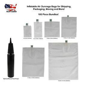 plastic air fillable pillow dunnage bags for packing shipping 100pcs ebay