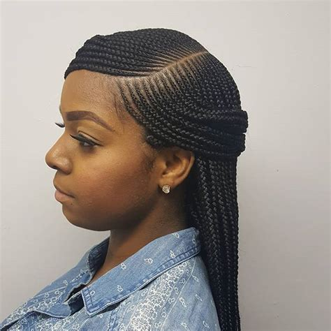 Side part box braids #braids #njbraids #njhairstylist #