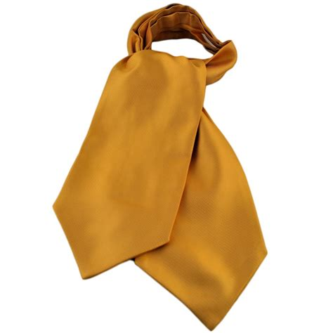 plain yellow ribbed self tie casual day cravat from ties