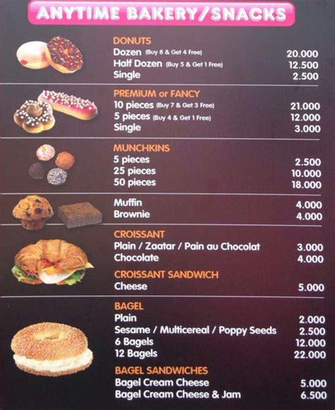 menu dunkin donuts dunkin donuts menu menu for dunkin donuts ehden zgharta zomato lebanon