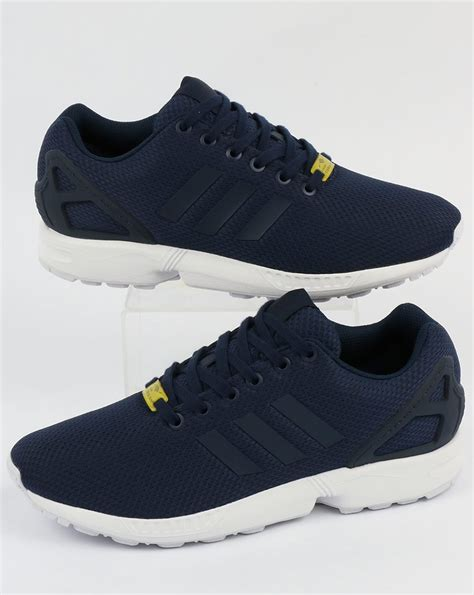 adidas zx flux patterned trainers adidas zx flux trainers new navy white originals shoes