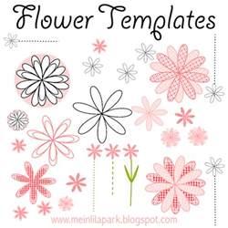 Free Printable Templates For Card Making Free Printable Flower Templates Ausdruckbare Blumen
