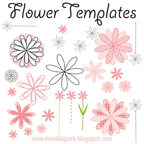 printable flowers for cards free printable flower templates ausdruckbare blumen