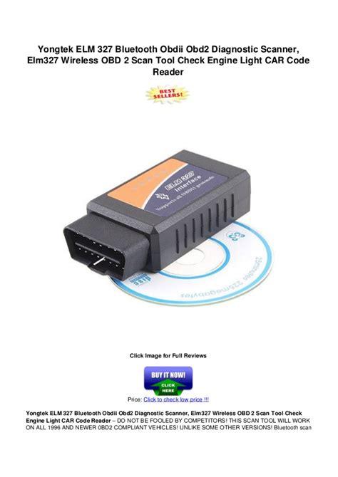 yongtek elm 327 bluetooth obdii obd2 diagnostic scanner elm327 wirele