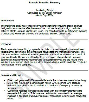 Consultancy Briefformat 13 executive summary templates excel pdf formats