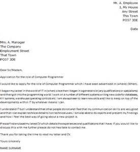 Computer Programmer Cover Letter Example   icover.org.uk