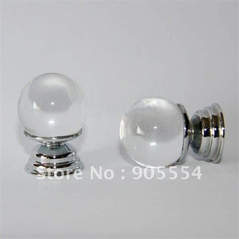 Glass Knobs For Furniture by D20xh27mm Free Shipping Glossy Glass