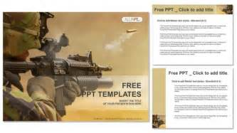 army timeline template submachine gun powerpoint templates