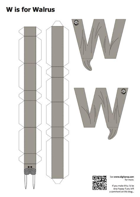 Papercraft Alphabet - alphabet en papercraft paper fr