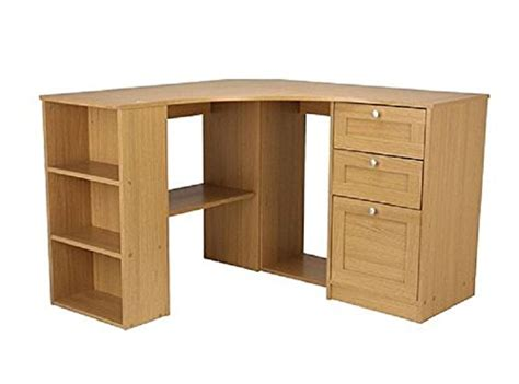 fraser wood computer corner desk workstation oak