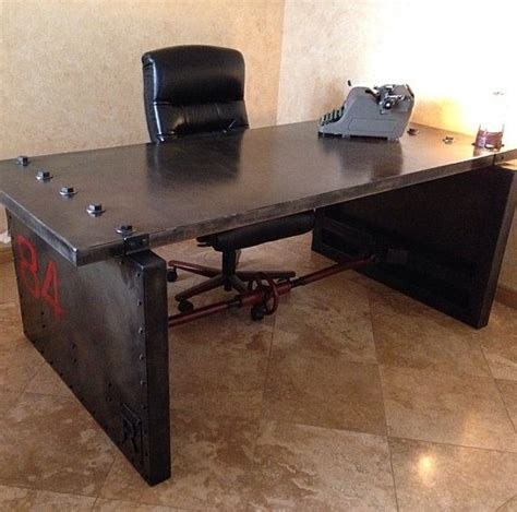 Handmade Modern Industrial Desk Work 10 Images About Home Office On Pinterest Vintage