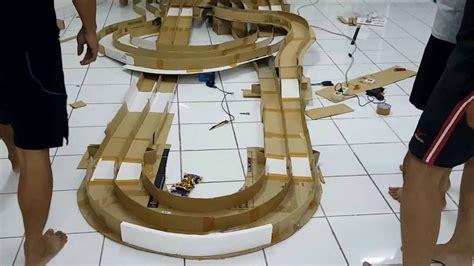 keterilan dari barang bekas kardus sirkuit balapan tamiya dari kardus bekas youtube