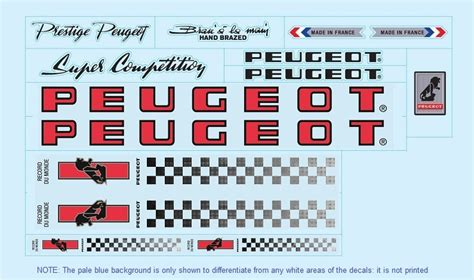 peugeot bike logo bicycle decals for vintage contemporary peugeot