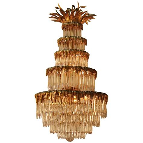 bronze and chandelier and bronze chandelier by bagues for sale at 1stdibs