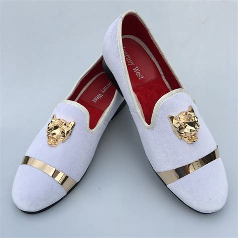 White Slippers For Wedding by New Handmade Velvet Loafers Shoes White Slippers With