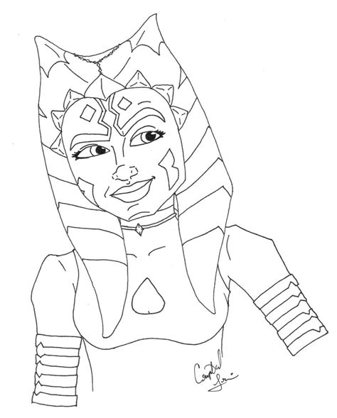 Ahsoka Coloring Pages wars ahsoka coloring pages coloring pages