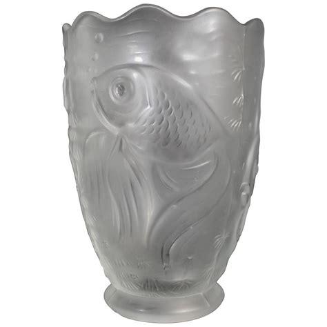 Goldfish In Vase French Art Deco Verlys Goldfish Vase At 1stdibs