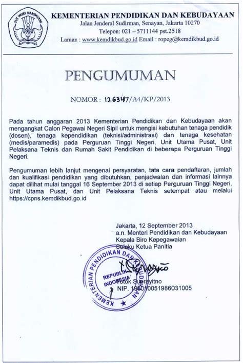 Contoh Surat Lamaran Untuk Kemendikbud by Info Tabagsel Terbesar Kementerian Pendidikan Dan