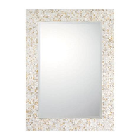 mother of pearl mosaic mirror
