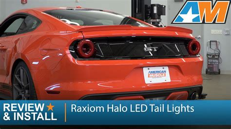 2014 mustang gt tail lights 2015 2017 mustang raxiom halo led tail lights review