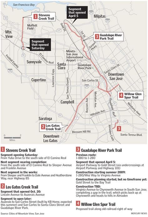 san jose trails map bomb hell lifestyle september 2009
