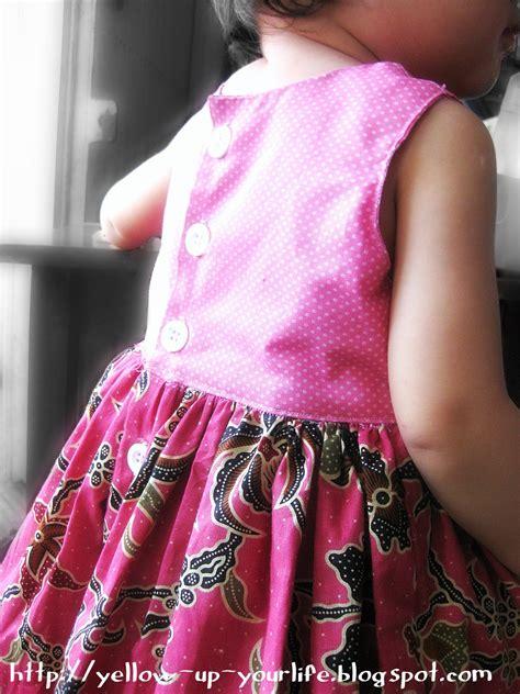 Dress Batik 06 Pink yellow dija and pink batik dress