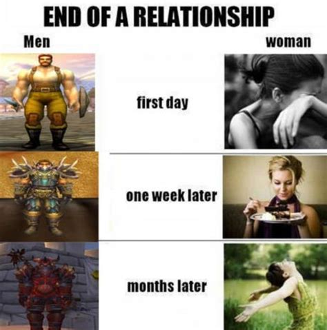 Funny Wow Memes - end of relationship world of warcraft edition