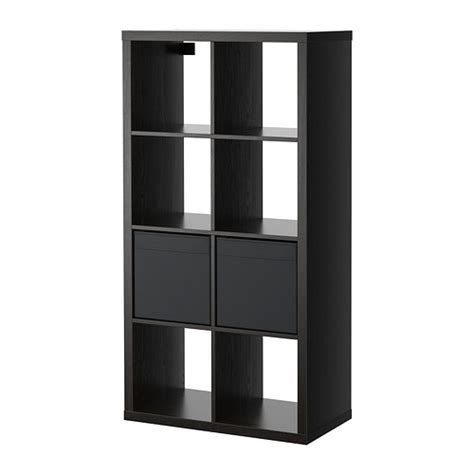 ikea shelf inserts kallax dr 214 na shelving unit with 2 inserts black brown ikea
